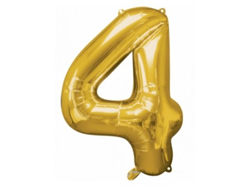 Supershape Balloon Number 4 Gold (100cm)