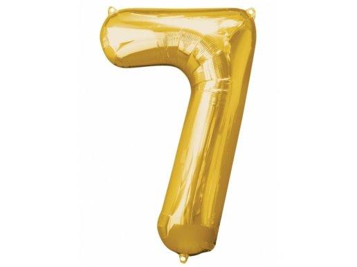 Supershape Μπαλόνι Αριθμός 7 Χρυσό (100εκ)