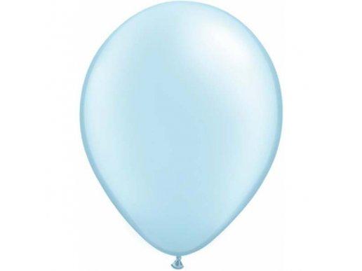 Light Blue Pearl Latex Balloons (5pcs)