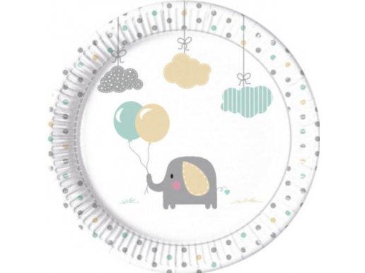 Μπεμπέ Ελεφαντάκι Χάρτινα Πιάτα (8τμχ)