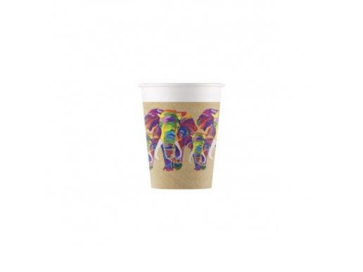 Africa Elephant Paper Cups (8pcs)