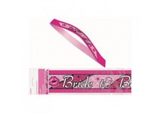 Ροζ Υφασμάτινη Κορδέλα Με Σχέδια Bride To Be