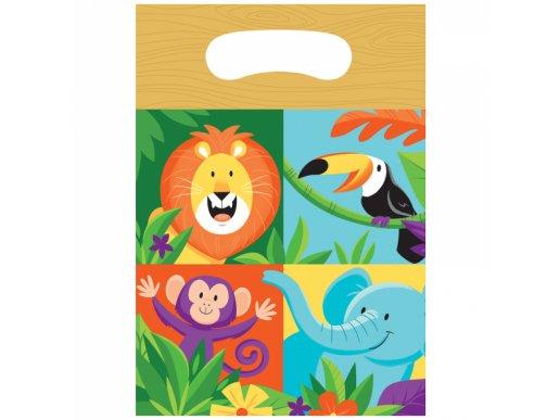 Jungle Safari Plastic Loot bags (8pcs)