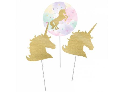 Unicorn with Stars Centerpiece Sticks 3/pcs