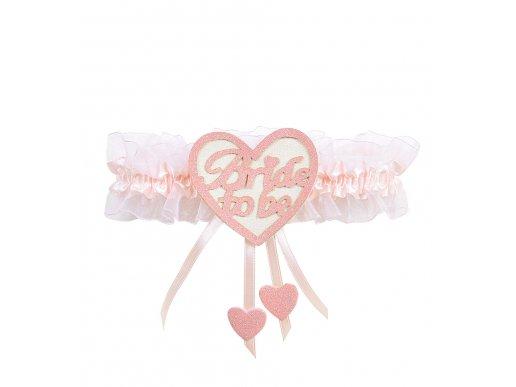 Bride to Be heart pink garter