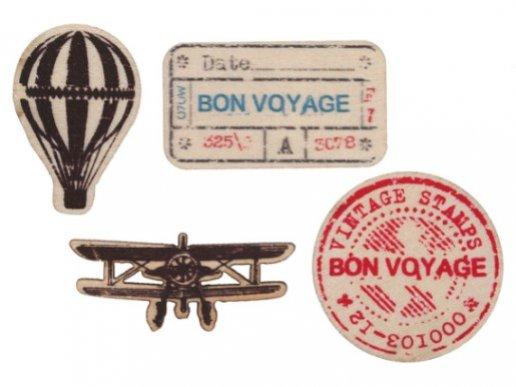 Αεροπλάνο Vintage Ξύλινα Κομφετί (20τμχ)