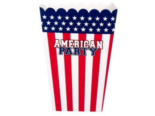 American Party Κουτάκια για Ποπ Κορν (4τμχ)
