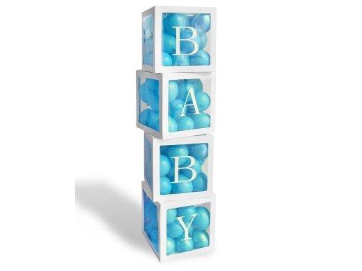 Baby Χάρτινοι Κύβοι με Διαφάνια (4τμχ)