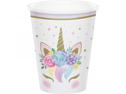 Baby Unicorn Paper Cups (8pcs)