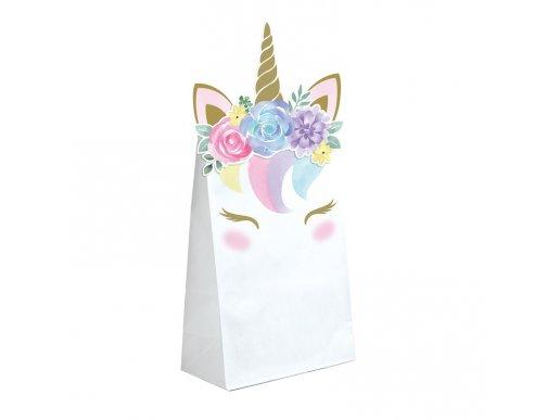 Baby Unicorn Paper Treat Bags (8pcs)