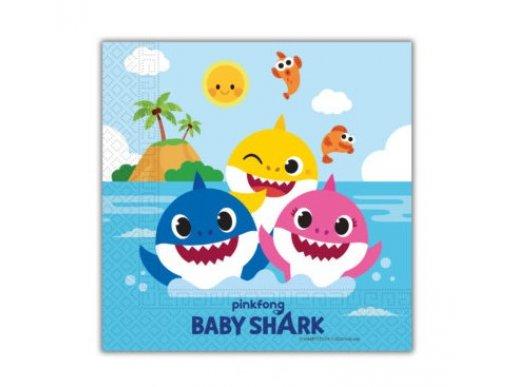 Baby Shark Χαρτοπετσέτες (20τμχ)