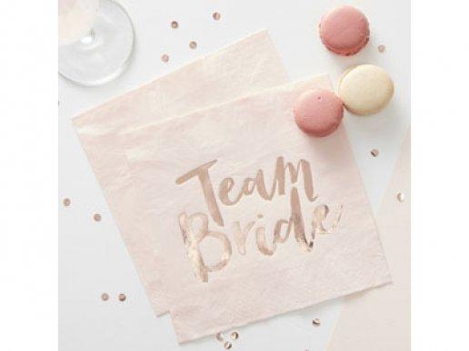 Χαρτοπετσέτες Team Bride (20τμχ)