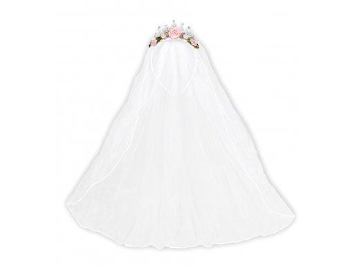 Wedding Veil Tiara with roses & diamonds