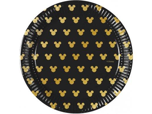 Black and Gold Μίνι Μάους Μικρά Πιάτα Χάρτινα (8τμχ)