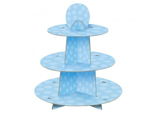 Pale blue dots 3 Tiers stand