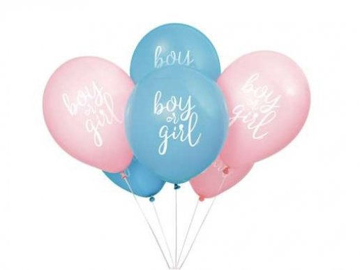 Boy or Girl Latex Balloons for the Gender Reveal (8pcs)