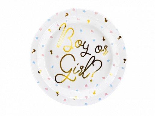 Boy or Girl Μεγάλα Χάρτινα Πιάτα (6τμχ)