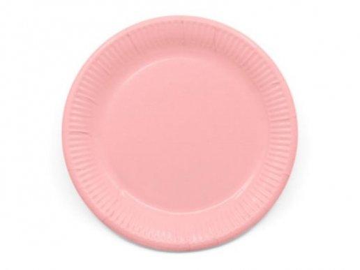 Compostable Μεγάλα Χάρτινα Πιάτα σε Ροζ Χρώμα (8τμχ)