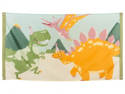 Party Dinosaurs Fabric Banner (150cm x 90cm)