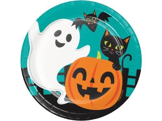 Fun Halloween Large Paper Plates (8pcs)