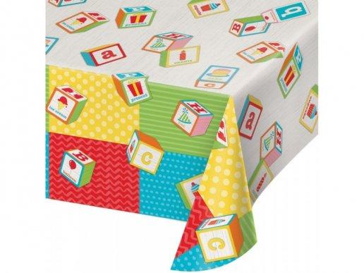 ABC Party Plastic Tablecover (137cm x 259cm)