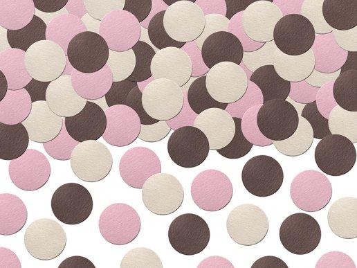 Pink & Chocolate brown confetti