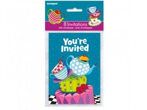 Alice in Wonderland Party Invitations (8pcs)