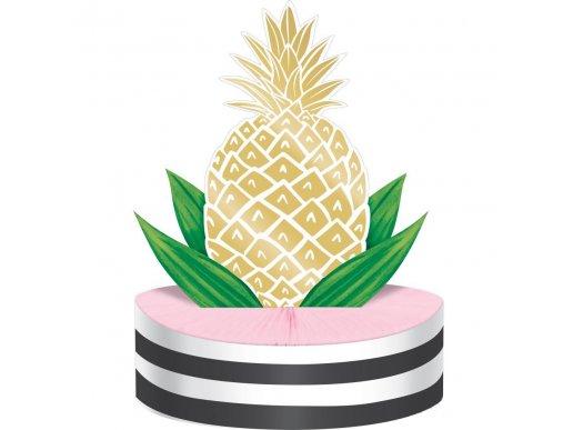 Gold Foiled Pineapple Centerpiece Decoration