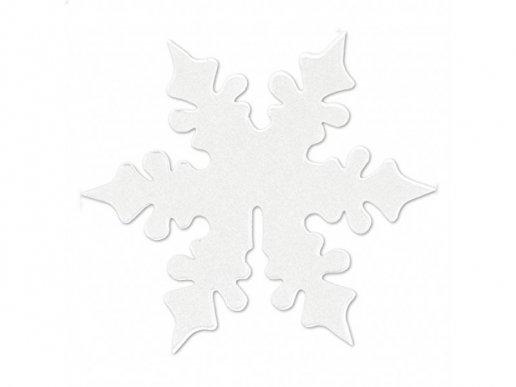 White Shimmering Snowflake Glass decoration (10pcs)