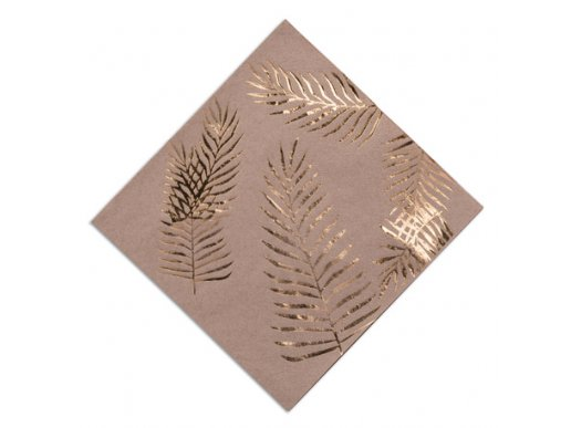 Tropical Chic Gold Foiled Luncheon Napkins 16/pcs