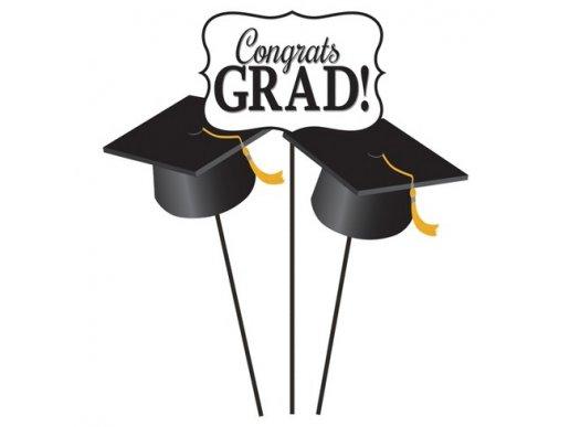 Congrats Grad Διακοσμητικά Στικς 3/Τμχ