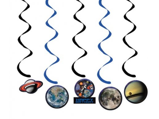 Space Blust swirl hanging decoration (5pcs)