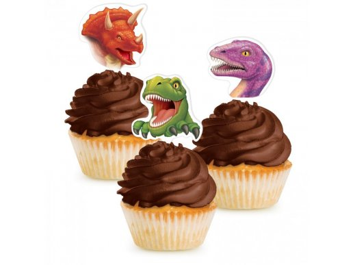 Dinosaures Cupcake Toppers 12/pcs