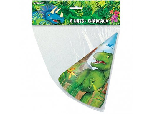 Dinosaures Party Hats 8/pcs