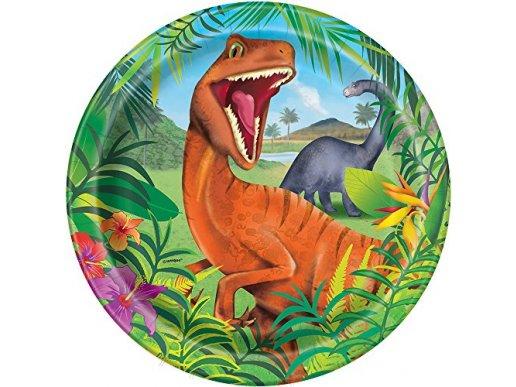 Dinosaur Large Paper Plates 8/pcs