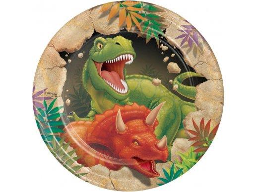 Dinosaures Small Paper Plates 8/pcs