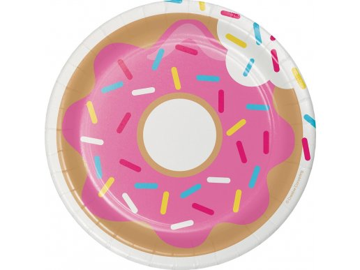 Donuts small paper plates 8/pcs