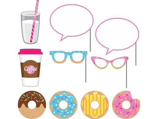 Donuts photobooth props 10/pcs