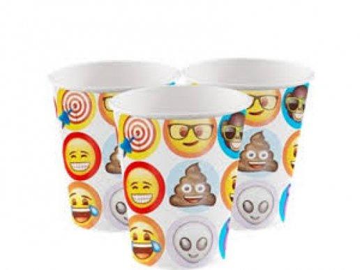 Emoji Ποτήρια Χάρτινα 8/τμχ