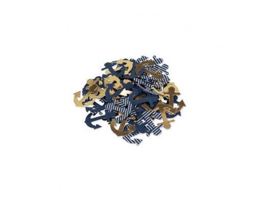 Gold Navy Table Confetti 100/pcs