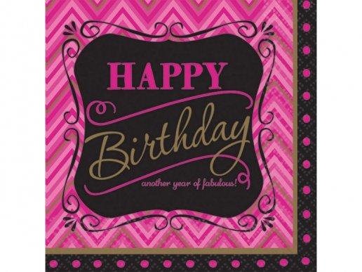 Fabulous Γενέθλια χαρτοπετσέτες 16/τμχ