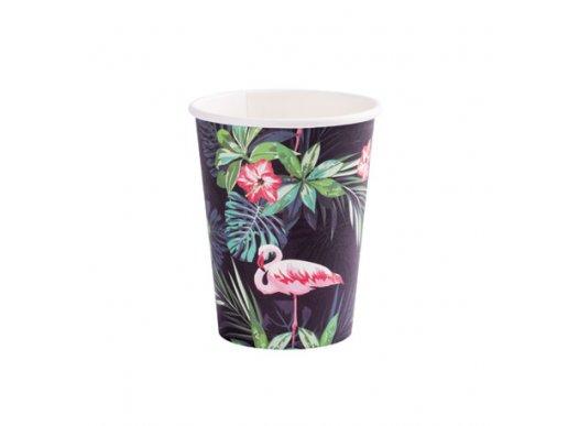 Flamingo Chic Paper Cups 8/pcs