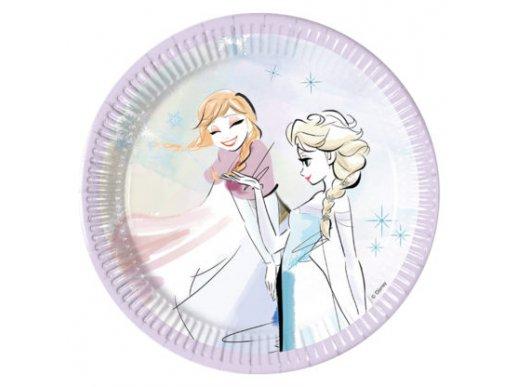 Frozen Sparkle Small Paper Plates 8/pcs