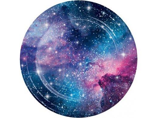 Γαλαξίας Μεγάλα Χάρτινα Πιάτα 8/Τμχ