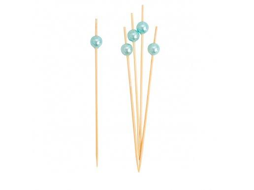 Pale Blue Pearl Decorative Picks 25/pcs