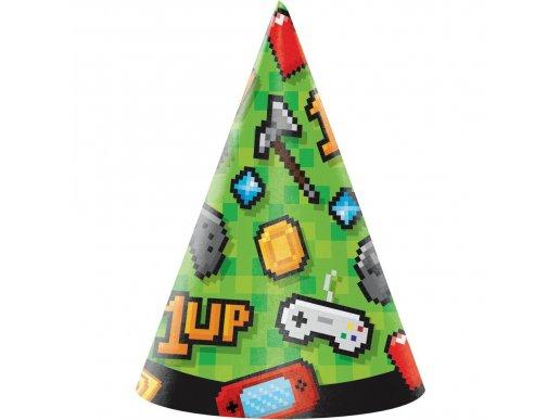 Gaming Party Hats (8pcs)