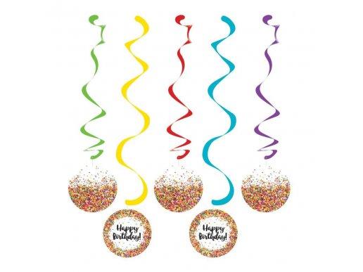 Sprinkles Hanging Swirl Decoration 5/pcs