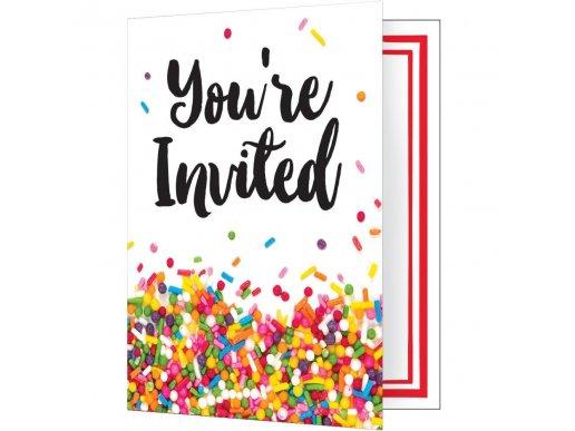 Sprinkles Party Invitations 8/pcs
