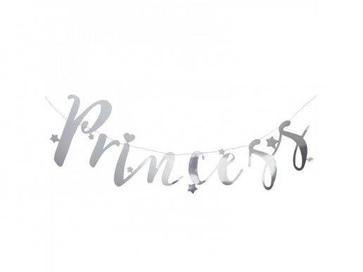 Ασημί Γιρλάντα Γράμματα Princess 1,5μ
