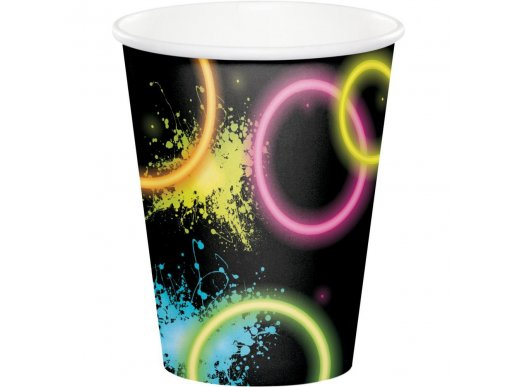 Glow Party Paper Cups 8/pcs